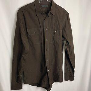 Ralph Lauren Brown button down dress shirt 0333